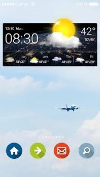 Live Weather and Clock Widget