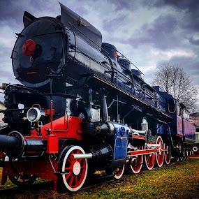 Old train by Marin Mavra - Transportation Trains ( old, train station, hdr, vintage, train, transportation, travel, trains )