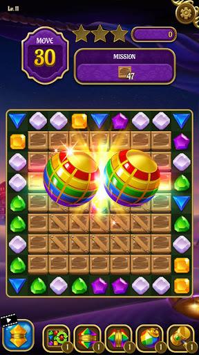 Magic Lamp - Genie & Jewels Match 3 Adventure apktreat screenshots 2