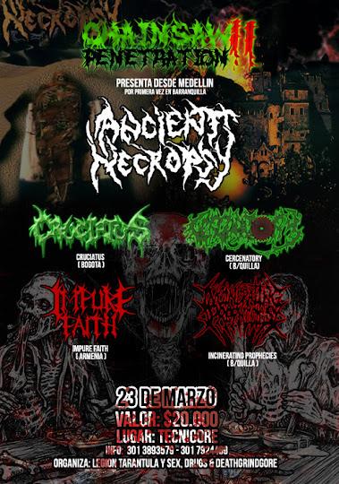una de las bandas mas importantes del metal nacional en vivo en barranquilla