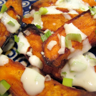 Roasted Sweet Potato Fries with Lime-Yogurt Sauce