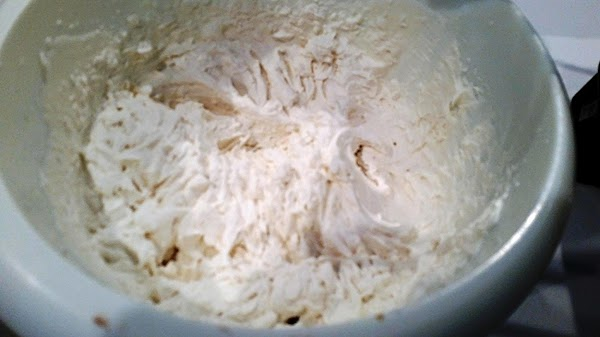Serve with Kahlua whipped cream:  Beat all ingredients together until peaks form. Don't over beat.