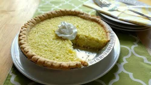 """Lime Coconut Buttermilk Pie""""Quick and easy! One of my favorites :-)"""" -..."""
