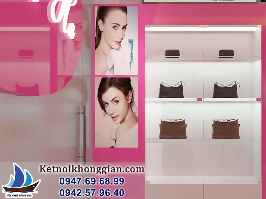 thiết kế shop mỹ phẩm thời trang