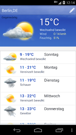Wetter screenshot 2