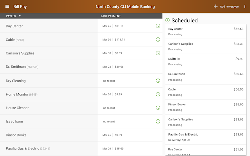 North County CU Mobile Banking- screenshot thumbnail