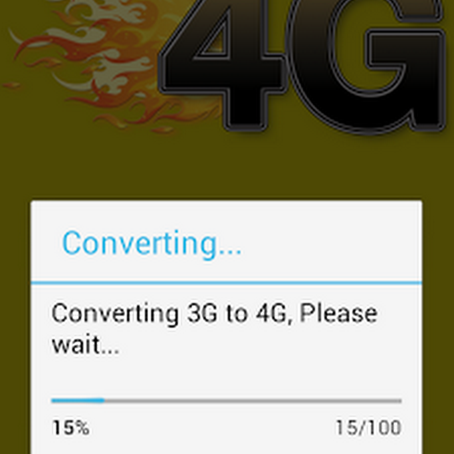 convert 3G mobile into 4G