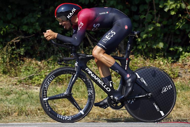 """Filippo Ganna verrassende winnaar van de vijfde etappe in de Giro: """"Ik maakte er een lange tijdrit van"""""""