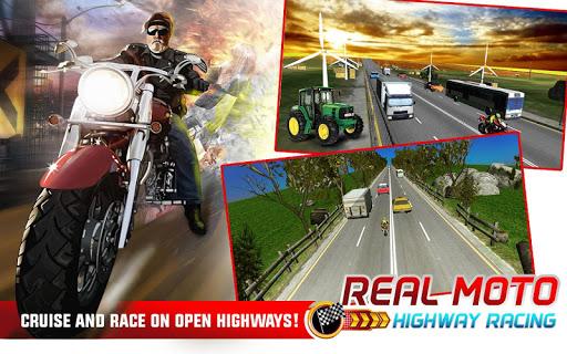 Real highway moto racer