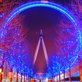 london eye by Tyler Sleap - Buildings & Architecture Statues & Monuments ( exposure, united, christmas, tourism, long, waterloo, lights, time, england, thames, kingdom, london, night, river, eye )