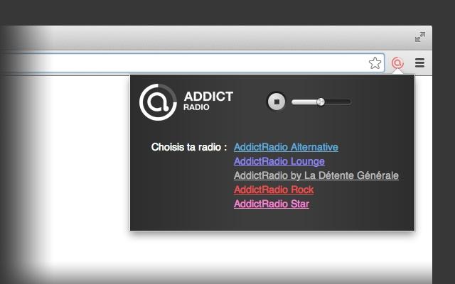AddictRadio chrome extension
