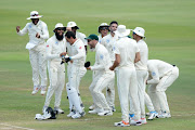 South African's celebrates the wicket during day 4 of the 1st Test match between South Africa and Sri Lanka at Kingsmead Stadium on February 16, 2019 in Durban, South Africa.