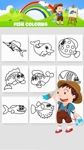 Fish Coloring app (apk) free download for Android/PC/Windows screenshot