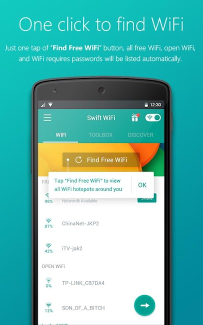 #2. Swift WiFi:Global WiFi Sharing (Android)