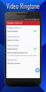 Video Ringtone – Incoming Video Call Pro Ekran Görüntüsü