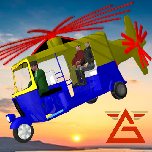Flying Tuk Tuk Air Helicopter Futuristic Rickshaw