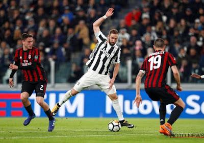 Higuain raakte gefrustreerd tijdens de training van Juventus