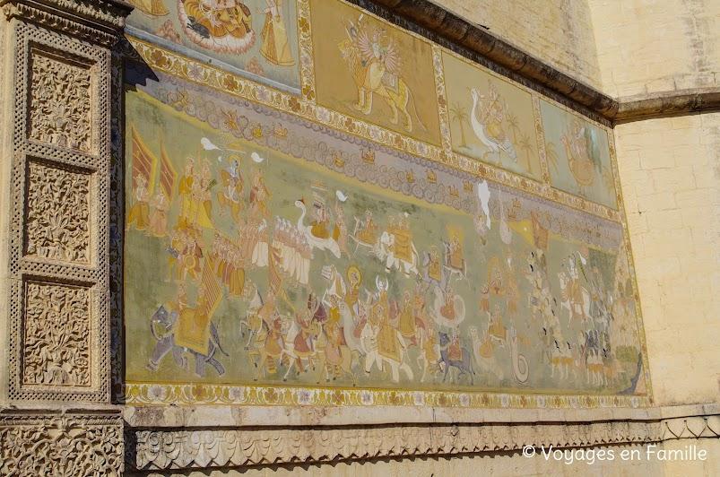 fresque fort Merhangarh