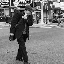 Photo: crossing Chinatown, New York City www.leannestaples.com #newyorkcityphotography  #blackandwhitephotography  #streetphotography