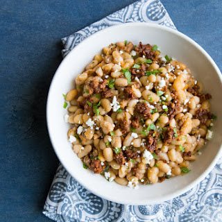 Baked Peruano Beans with Mexican Chorizo