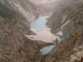 Photo: Kurban-Kul & Kok-kul Lake (blue & green)