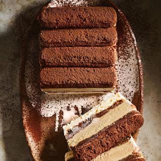 Tiramisu Ice-cream Layer Cake.