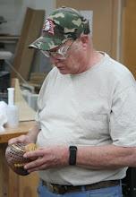 Photo: Bob Grudberg has been doing some segmented turning...