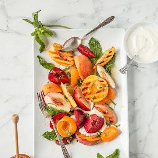 Stone Fruit Salad with Yogurt, Honey, & Mint.