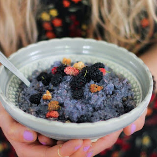Mulberry Soaked Oat Porridge