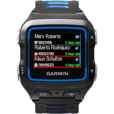 Log for Garmin Connect IQ- screenshot