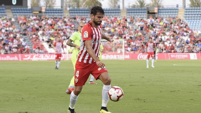 Romera en el Almería-Zaragoza de la pasada campaña.