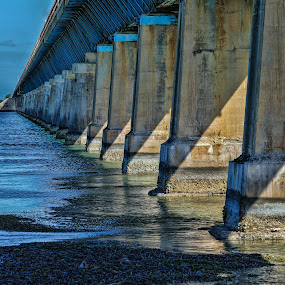 Bridge at the Keys by Gwen Paton - Buildings & Architecture Bridges & Suspended Structures ( water, florida, suspension, bridge, key west,  )