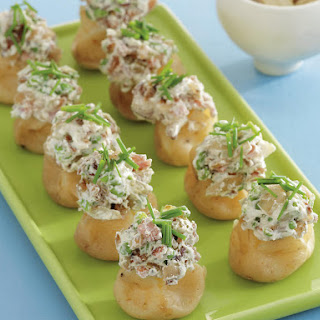 New Potatoes Stuffed with Cream Cheese and Bacon.