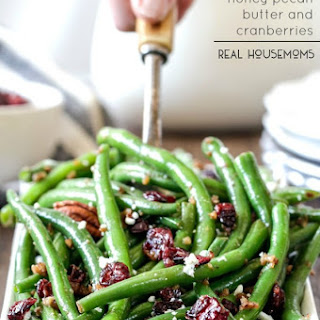 Green Beans with Honey Pecan Butter and Cranberries