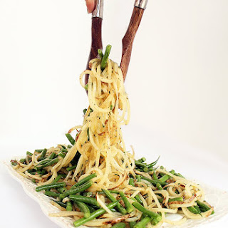 Potato Noodle and Green Bean Salad with Chive-Dijon Vinaigrette Recipe