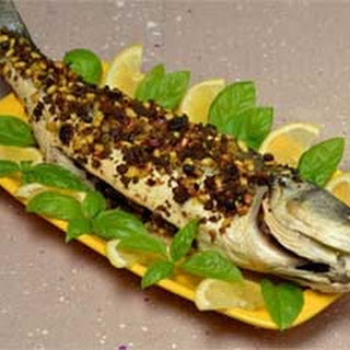 Baked Whole Fish with Raisins and Pine Nuts