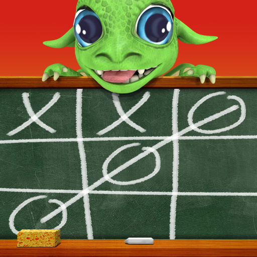 Tic tac toe with dragon Icon