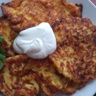 Vegetable Marrow, Cheese & Tomato Pancakes.