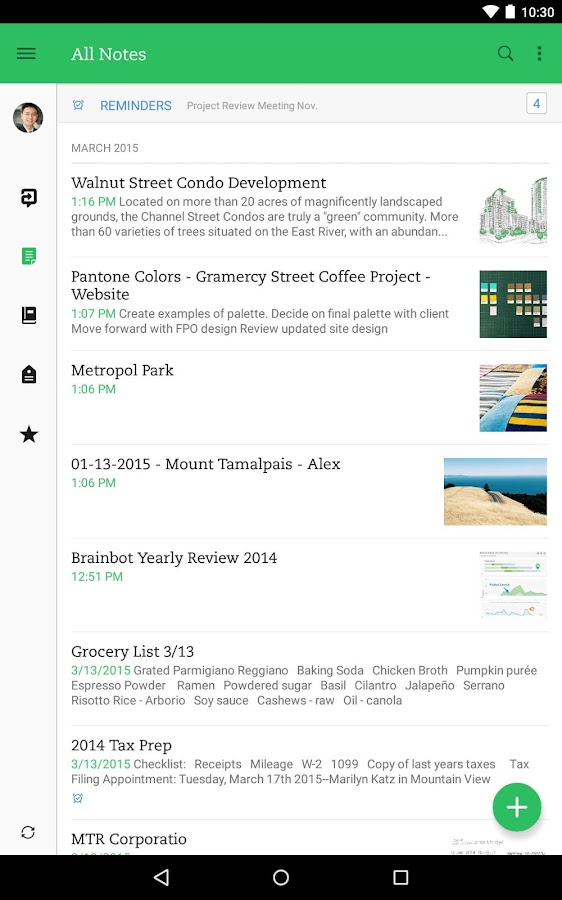 Evernote- screenshot