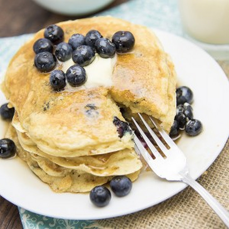 Greek Yogurt Blueberry Pancakes Recipe