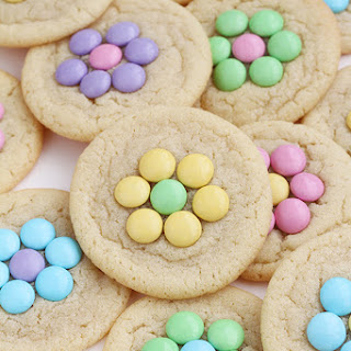 Candy Flower Sugar Cookies.