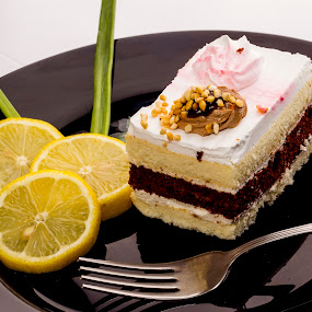 cakes and lemon by Paul Ortega - Food & Drink Eating ( lemons, sweet, cakes, dessert.yummy, yellow )