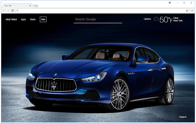 Maserati Wallpapers HD New Tab Themes