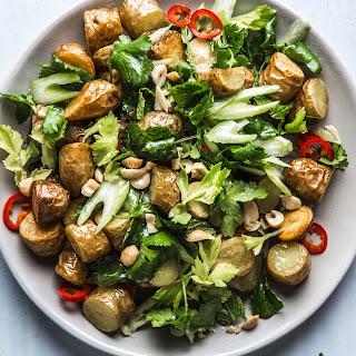 Crispy Potato Salad with Chiles, Celery, and Peanuts