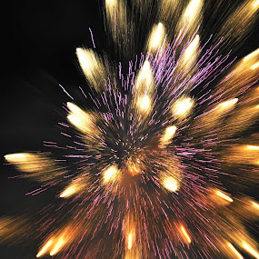 fireworks by Ales Jenko - Digital Art Abstract