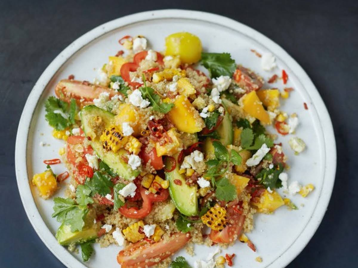 Jamie Olivers Grilled Corn And Quinoa Salad