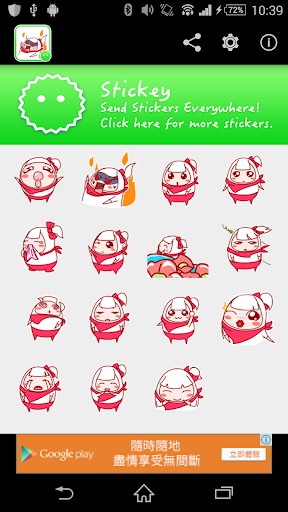 Stickey Cartoon Girl