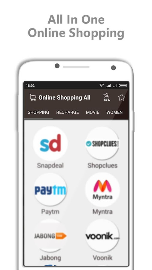 All in One Online Shopping app- screenshot