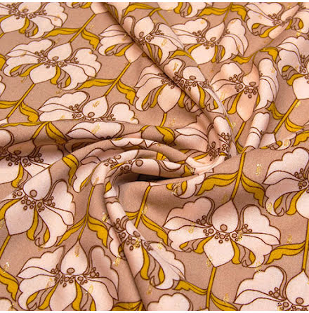 Art Deco Viskostyg - beige
