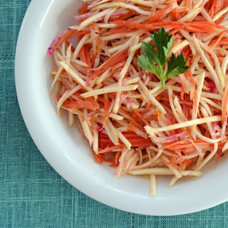 Root Vegetable Slaw With Orange-Cumin Dressing